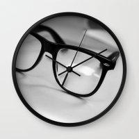 geek Wall Clocks featuring Geek by Zack Skeeters