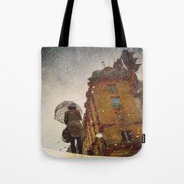 Polka Dot Brollie Lady Tote Bag