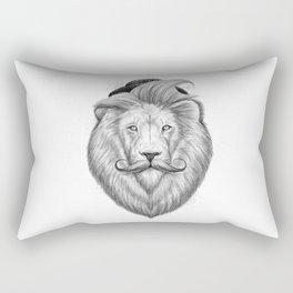 bearded lion Rectangular Pillow