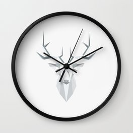 gray architectural moose in nature Wall Clock