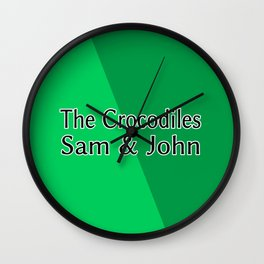 The Crocodiles Sam & John Wall Clock