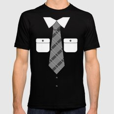 Shirt & Tie 2: New Tie Mens Fitted Tee Black 2X-LARGE