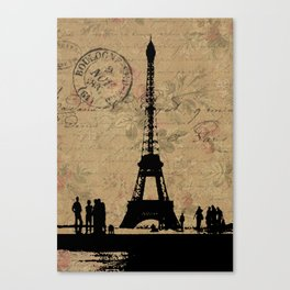 EIFFEL TOWER FRENCH COLLAGE Canvas Print