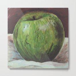 Tasty apple painting Metal Print
