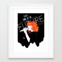 paramore Framed Art Prints featuring Future by Julie Pond