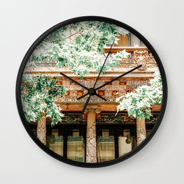 Barcelona Architecture, Travel Print, Exploring Barcelona City, Building Details Facade, Urban Architectural Details, Home Decor, Wall Art Print Poster, Summer In Barcelona, Spain Exploration Wall Clock