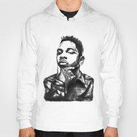 kendrick lamar Hoodies featuring Kendrick Lamar Lithograph by Drewnelz