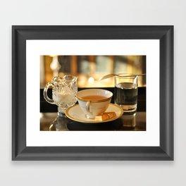 Tea and Chocolates Framed Art Print