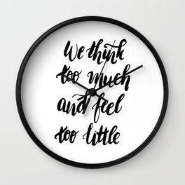 We Feel to Little Wall Clock