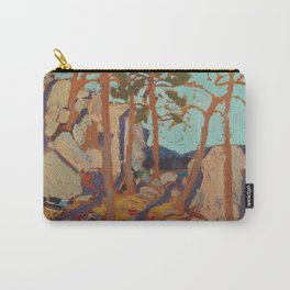 Tom Thomson - Pine Cleft Rocks - Canada, Canadian Oil Painting - Group of Seven Carry-All Pouch