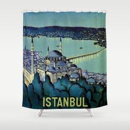 Golden Horn Istanbul Shower Curtain