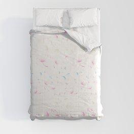 Dandelion Seeds Transgender Pride (white background) Comforters