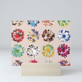 Flowers imprints Mini Art Print