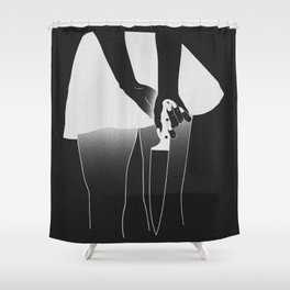 killer thoughts Shower Curtain