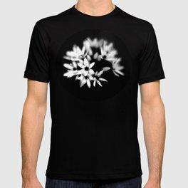 B&W Flower  T-shirt