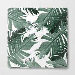 Tropical Banana Leaves Pattern #3 #tropical #decor #art #society6 Metal Print