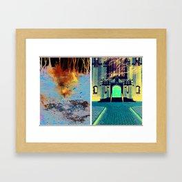 Red Diptych Framed Art Print