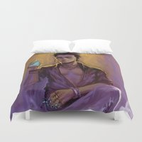 bane Duvet Covers featuring Magnus Bane by AkiMao