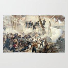 Civil War Naval Battle Rug