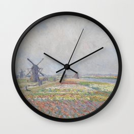 Tulip Fields near The Hague Wall Clock