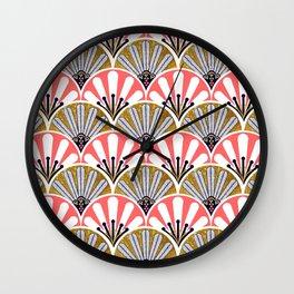 feather plume art deco fan Wall Clock