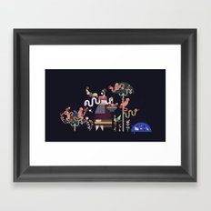 Monkeys and fruits Framed Art Print