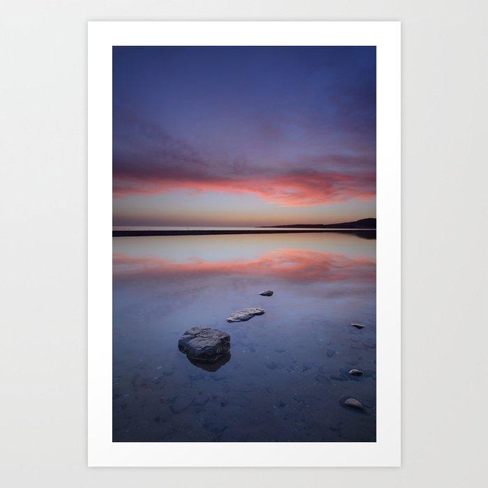 """Purple....."" Tarifa beach. Art Print"