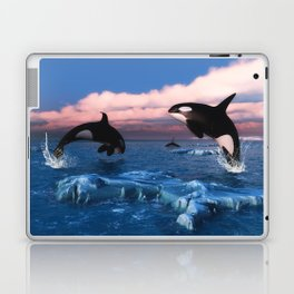 Killer whales in the Arctic Ocean Laptop & iPad Skin