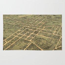 Vintage Pictorial Map of Huntsville Alabama (1871) Rug