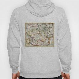Vintage Map of France (1657) Hoody