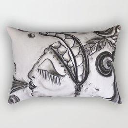 Mujer Soplando Al Sudeste Rectangular Pillow
