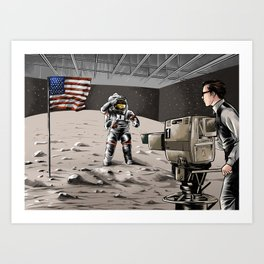 What Moon Landing? Art Print