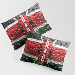 Flag of Kenya - Raindrops Pillow Sham
