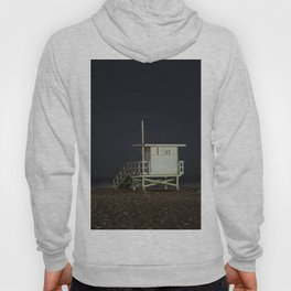 Life Guard Tower Night Beach Seascape Ocean View Colored Wall Art Print or Wall Canvas Print Hoody