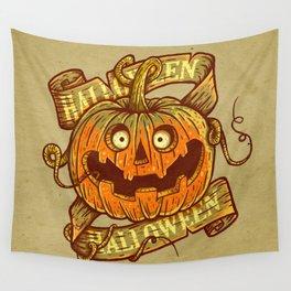 Halloween dark khaki Wall Tapestry