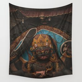 Temples and Architecture of Kathmandu City, Nepal 003 Wall Tapestry