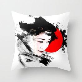 Japan - Kyoto - Geisha Throw Pillow