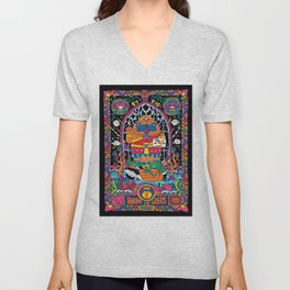 Pug Nang Kwak – Thai Goddess Of Wealth Unisex V-Neck