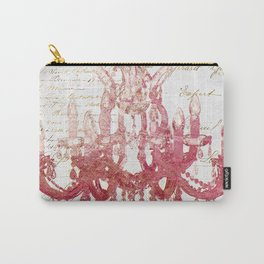 Blush Pink Chandelier Carry-All Pouch