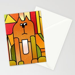 Why is the cat hidden? Stationery Cards