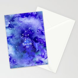Aquarius Constellation Stationery Cards