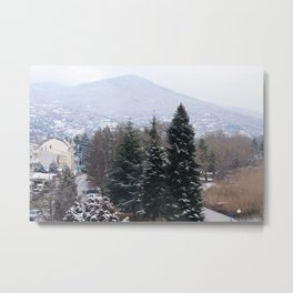 Ohrid lakeshore from above Metal Print