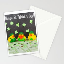 Happy St. Patrick's Day with St. Patrick's Day Rubber Ducks Stationery Cards