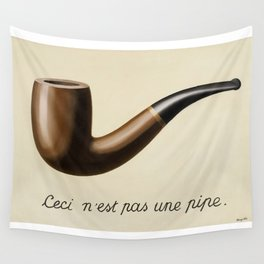 The Treachery of Images by Rene Magritte Wall Tapestry