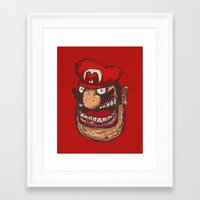 mario Framed Art Prints featuring Mario by Lime