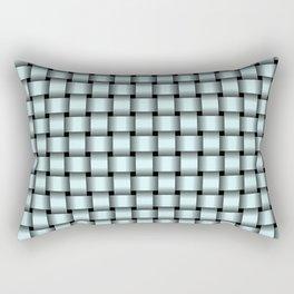 Small Light Cyan Weave Rectangular Pillow