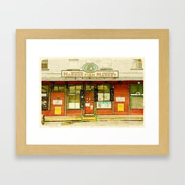 Harbor Fish Market Framed Art Print