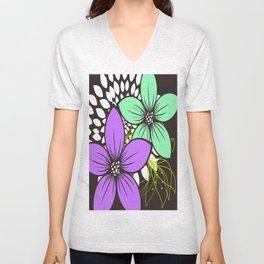 Flowers for One Unisex V-Neck