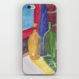 glass bottle still life iPhone Skin