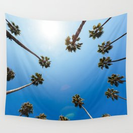 Palm Trees in Los Angeles Wall Tapestry